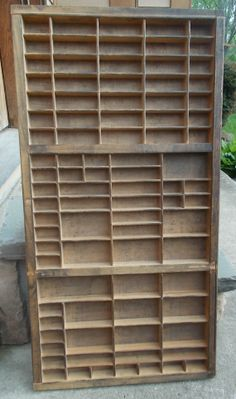 Vintage Letterpress Type Print Printers Tray Wood Divided Drawer Jewelry Display Organization Storage Shadow Box US Shipping Included