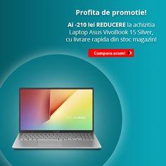 Profita de -210 lei REDUCERE 😉 la Laptop Asus VivoBook 15 X512JA-EJ352 15.6 inch Silver! 6 Inches, Multimedia, Laptops, Audio, Notebook, Silver, Color, Money, Laptop