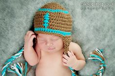 FOOTBALL Hat Size Newborn 0 3m 6m Crochet Baby Photo Prop  Custom Made in CHOICE of Team Colors Gender Netural Fall Winter 2012. $34.95, via Etsy.