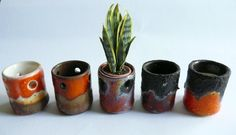 New sixties/seventies pottery, for sale at www.fennicole-miniatures.nl
