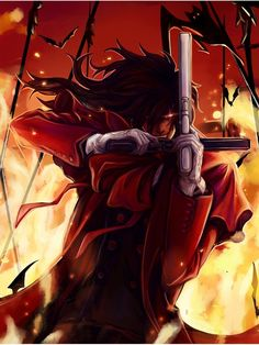 'Alucard' Poster by langpawen - - Hellsing Alucard, Otaku, Digimon Adventure Tri, Creatures Of The Night, Fantasy Warrior, Animation, Dark Fantasy Art, Animes Wallpapers, Dracula