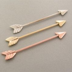 Rose Gold Arrow Industrial Piercing  Gimme gimme