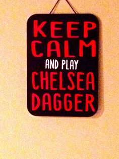 Chicago Blackhawks Sign  Keep Calm and Play by sweet4certain, $12.00