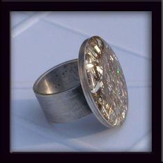 Glitter !! Sterling Ring