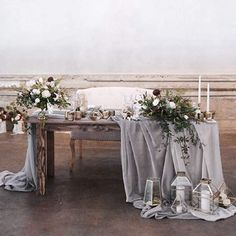 Amazon.com: QueenDream 10 Pack Wedding Sheer Table Runner 27x120 Inch Gray Chiffon Table Runner Wedding Decoration Chiffon Fabric for Holiday Wedding Party Bridal Shower: Home & Kitchen Romantic Wedding Decor, Romantic Table, Ethereal Wedding, Wedding Linens, Wedding Decorations, Vintage Table Decorations, Bride Groom Table, Grooms Table, Wedding Table Settings