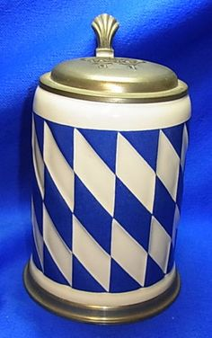 Vintage German Tin Top Lidded Thurn & Taxis Bavaria Beer Stein #XX