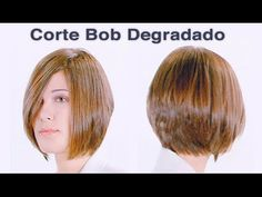 Corte Degradado Bob - YouTube