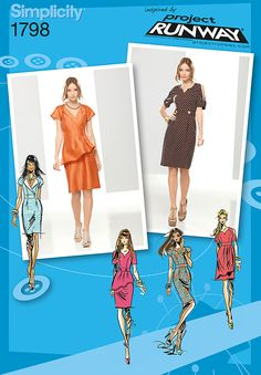 Misses' Dresses Project Runway Collection - Misses' dresses with bodice, sleeve and drape variations.