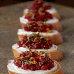 Cranberry and Pomegranate Bruschetta - This bright, fresh healthy appetizer makes a delightful bruschetta but there are tons of other delicious ways to use it - check it out!