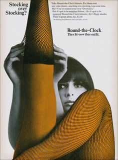 Round-the-Clock fishnets, 1966
