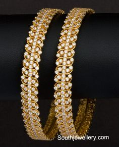 Gold Bangles latest jewelry designs - Page 9 of 31 - Indian Jewellery Designs New Gold Jewellery Designs, Gold Bangles Design, Gold Earrings Designs, Jewelry Design, Gold Jewelry, Gold Necklaces, Latest Jewellery, Necklace Designs, Jewelery
