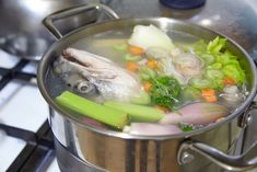How to make a classic fish stock recipe, also called fume, for all your seafood recipes including soups, stews and sauces.