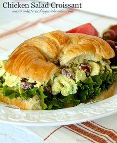 Chicken Salad Croissant - Whats Cooking With Ruthie