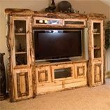 Entertainment Center - Love the log furniture on this site