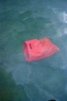plastic bag water pink