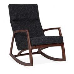 Cult Living Stanley Rocking Chair in Dark Grey | Cult Furniture UK
