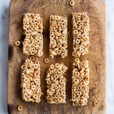 8 Ingredient Honey Nut Cheerio Bars. Healthy, simple and easy these are the perfect anytime snack or even breakfast on the go!
