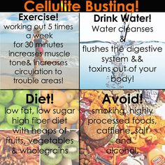cellulite busting - I still have cellulite, but these seem pretty good guidelines for other health reasons