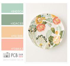 Color crush 4.21.2013 peach and mint color palette