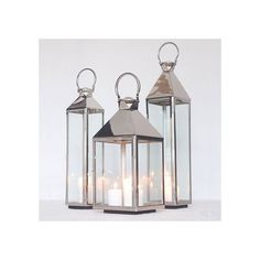 Polished Steel Candle Lantern Medium