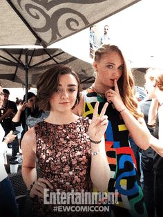Maisie Williams and Sophie Turner, Game of Thrones.
