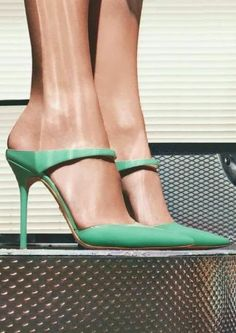 Teal pointed toe heel with single ankle strap. Prada you did it again. Timeless - Prada Heels - Ideas of Prada Heels - Teal pointed toe heel with single ankle strap. Prada you did it again. Timeless classy and extremely versatile. Fab Shoes, Pretty Shoes, Dream Shoes, Crazy Shoes, Beautiful Shoes, Cute Shoes, Women's Shoes, Me Too Shoes, Shoe Boots