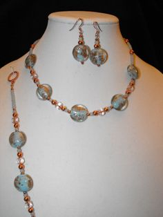 3 pc set including Necklace earrings and by NoresanDesigns on Etsy, $29.99