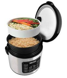 Organic Rice Cooker Best Food Steamer Digital Timer Slow Cook Veg Basket Warmer #RiceCooker #OrganicFoodBasket