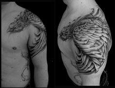 Phoenix tattoo. I love the placement