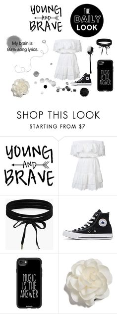 """""""The Daily Look"""" by lizabeth-rose ❤ liked on Polyvore featuring LoveShackFancy, Boohoo, Converse, Casetify and Cara"""