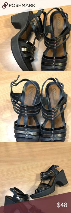 83746272f5b5 Cobb Hill Platform leather t-strap sandals Known for comfort  Cobb Hill  platform heel