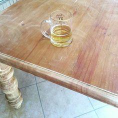 Sanding furniture calls for a beer. #rustic #cantaffordnewfurniture #lastdayofsummer #aflylandedinmydrink  #beeroclock by shea83