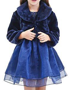 Girls Tufted Plush Long Sleeve Dressy Bolero Jacket for Dress