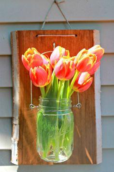 Mason Jar Hanger - use as a vase, utensil holder, or lantern, so easy.
