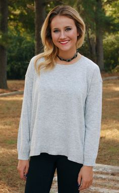 Class Act Sweater Top-Heather Grey #new #sweaters #tops