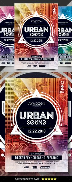 #Urban #Sound #Flyer - Clubs & Parties Events