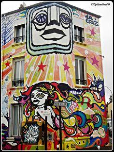 La maison peinte par Da Cruz et Artof Popof (Vitry sur Seine)