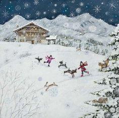 Magical snow scene - Lucy Grossmith