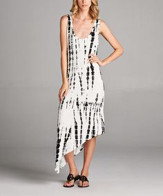 Loving this Paolino White Tie-Dye Hi-Low Maxi Dress on #zulily! #zulilyfinds