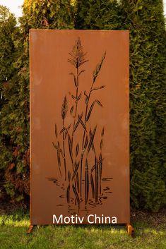 Garten Im Quadrat | 3er Set Moderne Sichtschutz Wand Aus Metall, Rost