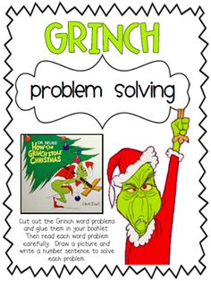 classroom, math problems, solv activitypdf, probl solv, school, math word problems, math problem solving, grinch probl, grinch that stole christmas