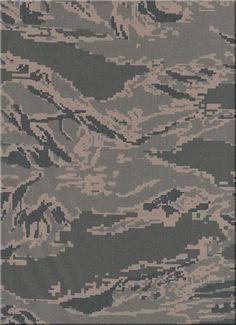 united states  Air Force 'digital tiger-stripe' camouflage 2007 - present