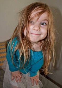 Parenting With a Smile: Wordless Wednesday - Crazy Lillian