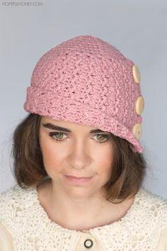 Hopeful Honey | Craft, Crochet, Create: 1920's Rosebud Cloche Hat Crochet Pattern