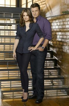 Nathan Fillion Stana Katic Kate Beckett Castle TV show photo picture 07 Tv Castle, Castle 2009, Castle Tv Series, Castle Tv Shows, Castle Beckett, Nathan Fillon, Richard Castle, W Two Worlds, Tv Couples