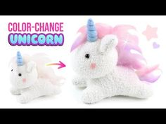 How to make cutest diy unicorn crafts! Unicorn Stuffed Animal, Cute Stuffed Animals, Pusheen Plush, Fluffy Socks, Sock Crafts, Sock Dolls, Sock Animals, Clay Animals, Unicorn Crafts