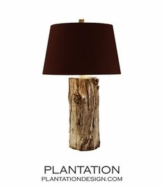 Clint Wood Lamp A handsome table lamp featuring a stylish, silver paint finish over its wood base. 3-way socket and hardback shade. US$675