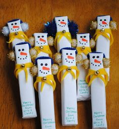 Use wood change it a little and give out during caroling at the nursing home or gum Christmas treat for cub scouts?