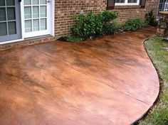 Acid-stained Concrete. it looks like a copper walkway @ DIY Home Ideas