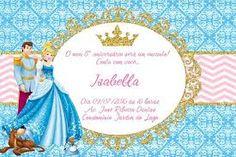 Resultado de imagem para convites da cinderela personalizados
